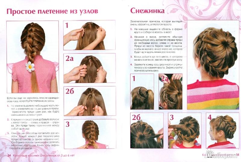 Плетение косичек на волосы схемы девочек