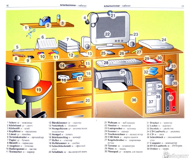 Иллюстрация 1 из 11 для Немецкий язык в картинках | Лабиринт - книги. Источник: Лабиринт