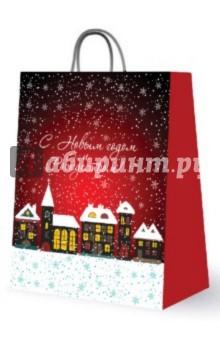 """Пакет бумажный для сувенирной продукции """"С Новым годом и Рождеством!"""" (27626)"""
