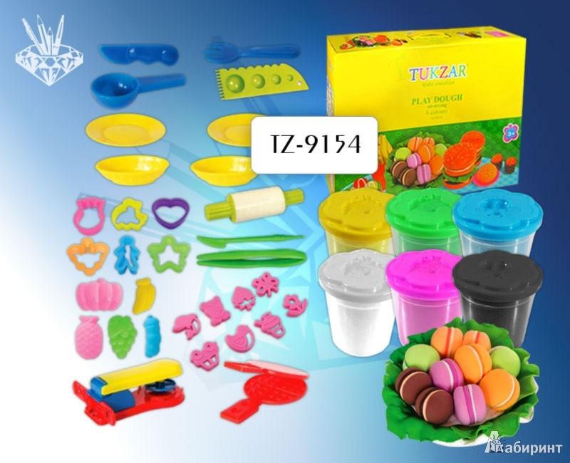 """Иллюстрация 1 из 6 для Набор теста для лепки """"Кулинар"""" 6 цветов (TZ 9154)   Лабиринт - игрушки. Источник: Лабиринт"""