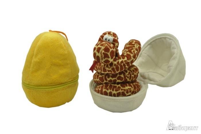 Иллюстрация 1 из 2 для Змей плюшевый, 40 см. (яйцо ткань), в ассортименте (GS8679/bag) | Лабиринт - игрушки. Источник: Лабиринт