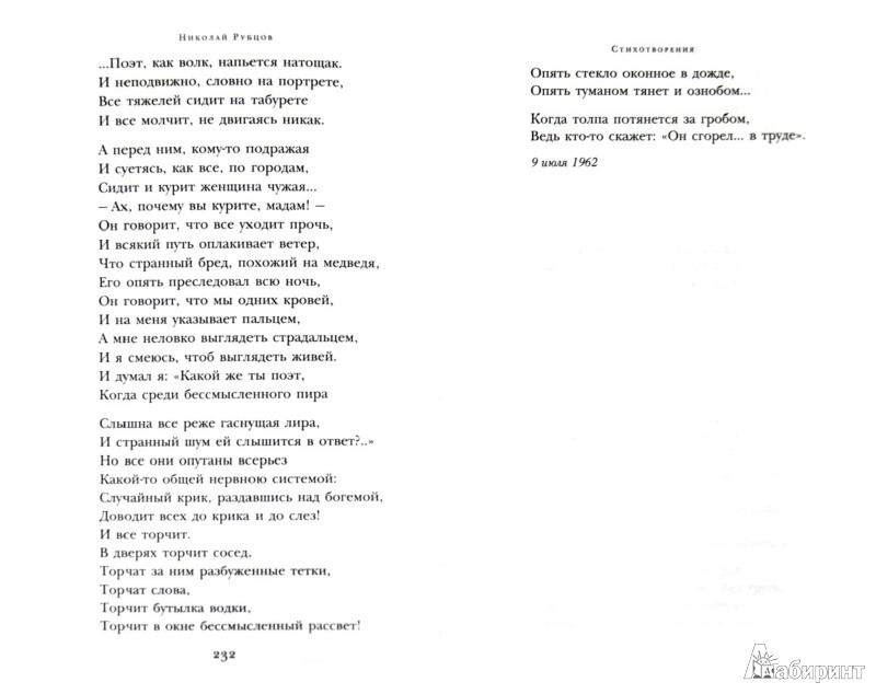 Иллюстрация 1 из 12 для Стихотворения - Николай Рубцов   Лабиринт - книги. Источник: Лабиринт