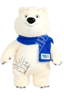 Белый мишка с шарфом, 40 см., ТМ Sochi 2014.ru (GT5569)