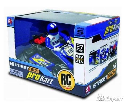 Иллюстрация 1 из 2 для Машина картинговая радиоуправляемая с гонщиком, ассортимент (24606)   Лабиринт - игрушки. Источник: Лабиринт