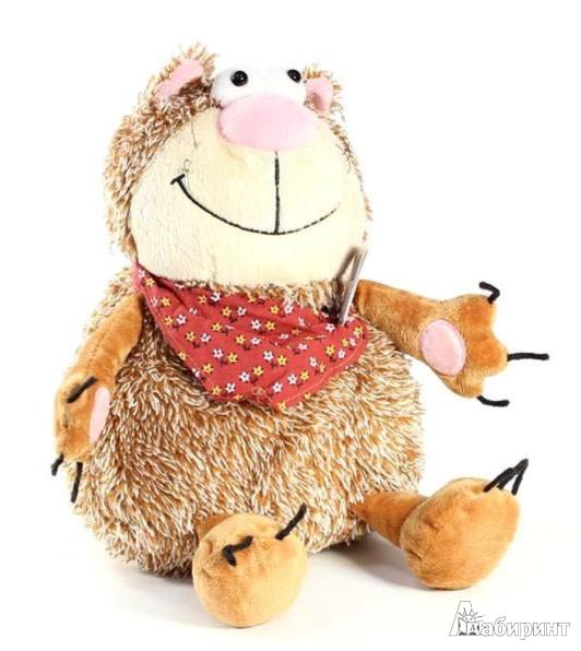 Иллюстрация 1 из 5 для Мягкая игрушка. Большой рыжий кот в бандане - 25 см (41001) | Лабиринт - игрушки. Источник: Лабиринт
