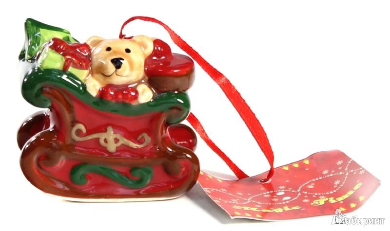 Иллюстрация 1 из 4 для Новогоднее подвесное елочное украшение «Медведь с подарками» (25694) | Лабиринт - сувениры. Источник: Лабиринт