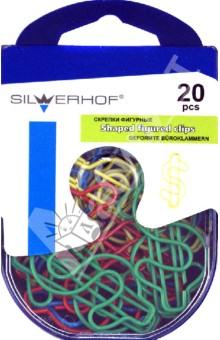 Скрепки фигурные Доллар 20 штук (493008)Скрепки<br>Набор скрепок фигурных.<br>Скрепки в виде доллара.<br>Количество в упаковке: 20 штук.<br>Товар предназначен для скрепления бумажных носителей.<br>Упаковка: пластиковая коробка с подвесом.<br>Сделано в Китае.<br>