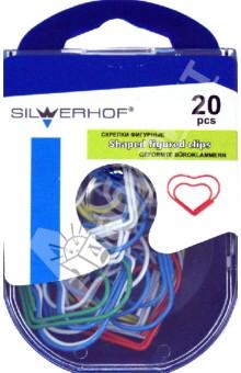 """Скрепки фигурные """"Сердце"""" 20 штук (493010) Silwerhof"""