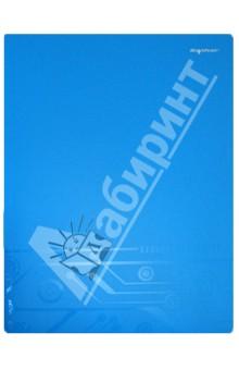 Папка с прижимом. DISCOVERY. Цвет: голубой (255041-08)Папки с зажимами, планшеты<br>Папка с  металлическим прижимом.<br>Товар предназначен для хранения бумажных носителей формата А4, выполнен из матового пластика, содержит прозрачный кармашек на переднем форзаце.<br>Безопасен при использовании по назначению. <br>Срок годности не ограничен. Специальных условий хранения не требует.<br>Сделано в Китае.<br>