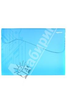 Папка-конверт на липучке. DISCOVERY. Цвет: бирюзовый (255047-08) Silwerhof