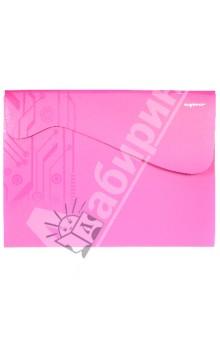 Папка-конверт на липучке. DISCOVERY. Цвет: фуксия (255047-25)Папки-конверты на липучках<br>Папка-конверт. Закрывается на ассиметричный клапан на липучке.<br>Товар предназначен для хранения бумажных носителей формата А4, выполнен из матового пластика. <br>Содержит прозрачный кармашек на переднем форзаце.<br>Три отделения для хранения документов.<br>Разлинованная офсетная бумага (А4) для записей.<br>Безопасен при использовании по назначению. <br>Срок годности не ограничен. Специальных условий хранения не требует.<br>Сделано в Китае.<br>
