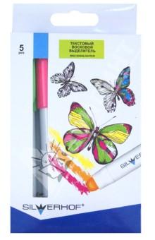 """Текстовый восковой выделитель """"Emotions"""" 5 цветов (109017-00) Silwerhof"""