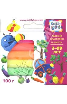 Мягкий пластилин, 6 шт., 100 гр. (46647) KriBly Boo
