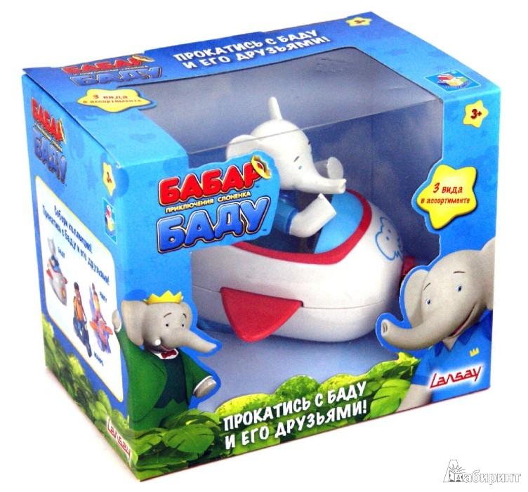 Иллюстрация 1 из 6 для Бабар и приключения слоненка Баду. Самолет со слоненком Баду (Т55813)   Лабиринт - игрушки. Источник: Лабиринт