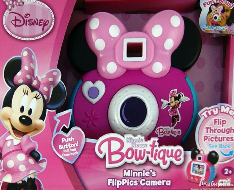 Иллюстрация 1 из 3 для Disney. Minnie Mouse Bow-tique. Minnie's FlipPics Camera. Игрушечный фотоаппарат (Т55551) | Лабиринт - игрушки. Источник: Лабиринт
