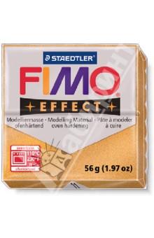 FIMO Effect полимерная глина, 56 гр., цвет золотой металлик (8020-11)Лепим из глины<br>FIMO Effect - это полимерная глина FIMO, схожая по свойствам с FIMO Soft, но с различными эффектами: с блестками, эффектом камня, металлик, люминесцентный и прозрачный.<br>Стандартный блок весит 56 грамм.  <br>Цвет: золотой металлик (11)<br>Сделано в Германии<br>