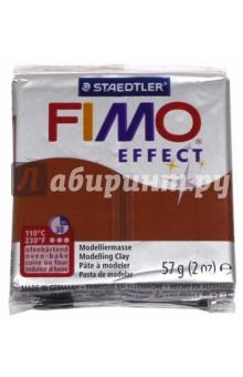 FIMO Effect полимерная глина, 57 гр., цвет медь металлик (8020-27)Лепим из глины<br>FIMO Effect - это полимерная глина FIMO, схожая по свойствам с FIMO Soft, но с различными эффектами: с блестками, эффектом камня, металлик, люминесцентный и прозрачный.<br>Стандартный блок весит 57 грамм.  <br>Цвет: медь металлик (27)<br>