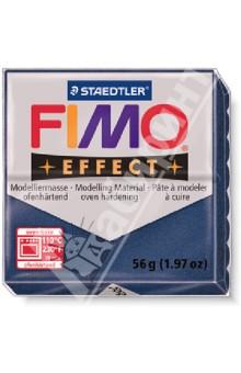 FIMO Effect полимерная глина, 56 гр., цвет синий металлик (8020-302)Лепим из глины<br>FIMO Effect - это полимерная глина FIMO, схожая по свойствам с FIMO Soft, но с различными эффектами: с блестками, эффектом камня, металлик, люминесцентный и прозрачный.<br>Стандартный блок весит 56 грамм.  <br>Цвет: синий металлик (302)<br>Сделано в Германии<br>