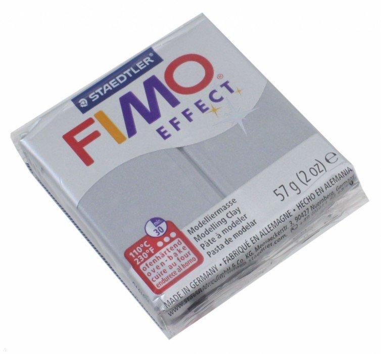 Иллюстрация 1 из 6 для FIMO Effect полимерная глина, 56 гр., цвет серебро металлик (8020-81) | Лабиринт - игрушки. Источник: Лабиринт