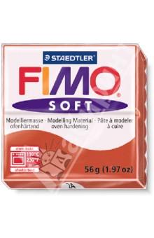 FIMO Soft полимерная глина, 56 гр., цвет индийский красный (8020-24)
