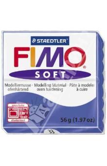 FIMO Soft полимерная глина, 56 гр., цвет блестящий синий (8020-33)Лепим из глины<br>Fimo Soft - это запекаемая полимерная глина, очень мягкая и пластичная. Поддается формованию более охотно, чем другие разновидности Fimo. Может с одинаковым успехом использоваться как для изготовления простых изделий, например, магнитов, брелоков, так и для создания сложных украшений с переходом цвета и сложной поверхностью.  <br>Структура этой глины позволяет при смешивании получать красивые чистые цвета. Изделия, изготовленные из Fimo Soft приобретают высокую прочность после запекания. Походит для использования штампов. <br>Стандартный блок весит 56 грамм.<br>Цвет: синий (33)<br>Сделано в Германии<br>