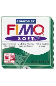 FIMO Soft полимерная глина, 56 гр., цвет изумруд (8020-56)