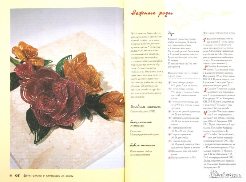 """Иллюстрация 1 к книге  """"Цветы, букеты и композиции из бисера.  30 проектов """", фотография, изображение, картинка."""