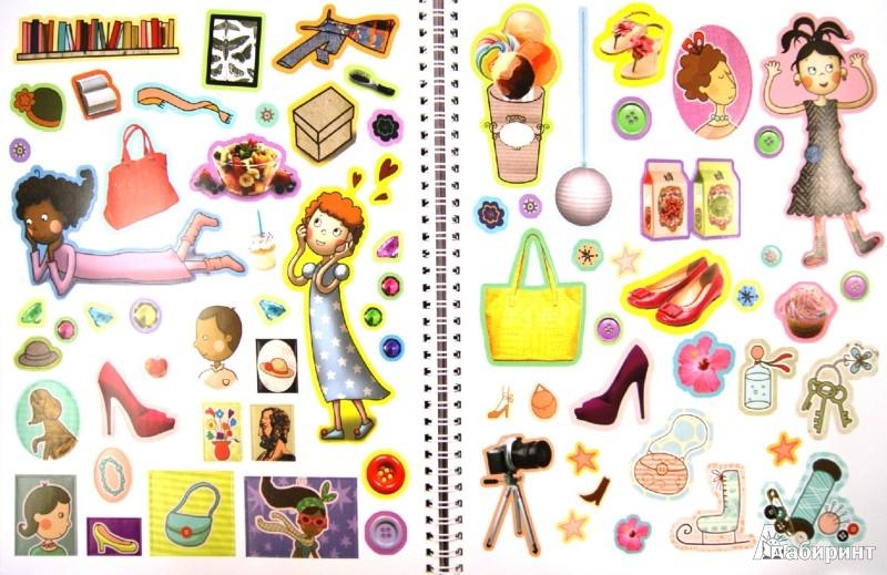 Иллюстрация 1 из 24 для Маленькие модницы. Большая книга для детского творчества - Андреа Пиннингтон | Лабиринт - книги. Источник: Лабиринт