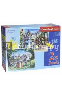 Пазлы Принцессы (2 в 1, 135 элементов и 70 элементов) (В-021017)Наборы пазлов<br>2 пазла (размеры: 32х23 см.) в одной коробке.<br>Беречь от детей до 3 лет.<br>Рекомендованный возраст: 6+<br>Сделано в Польше.<br>