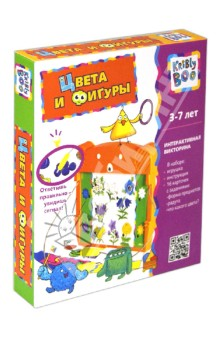 Настольная игра Цвета и фигуры, электронная книжка