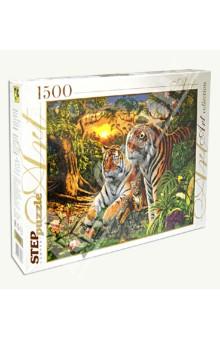 Puzzle-1500 Сколько тигров? (83048)Пазлы (1500 элементов)<br>Игра-мозаика.<br>В коробке 1500 пазлов.<br>Размер собираемой картинки: 850х580 мм.<br>Для детей от 8-ми лет. Содержит мелкие детали.<br>Упаковка: картонная коробка.<br>Производство: Россия.<br>