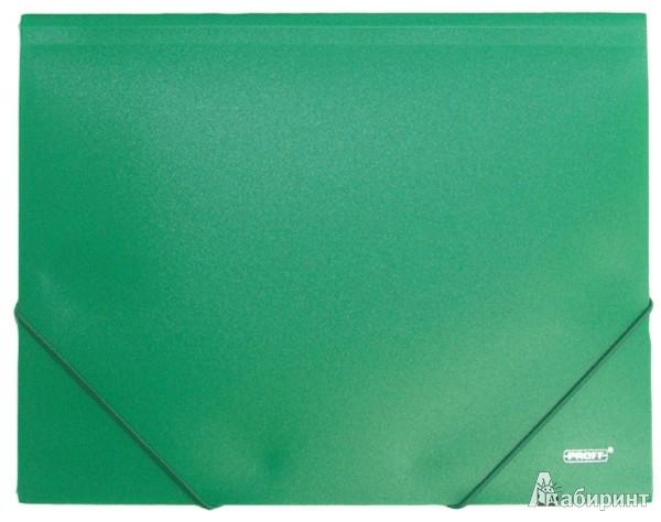 Иллюстрация 1 из 4 для Папка A4 с резинкой, непрозрачная, зеленая (DC202-03) | Лабиринт - канцтовы. Источник: Лабиринт