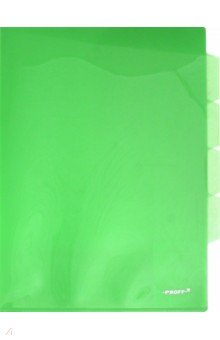 Папка-уголок A4, с 3 отделениями, зеленая (CH410-TF-03) Proff