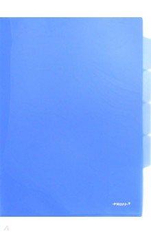 Папка-уголок A4, с 3 отделениями, синяя (CH410-TF-04) Proff
