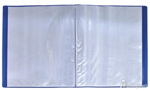 Иллюстрация 1 из 2 для Папка A4 с 30 вкладышами, синяя (DB30AB-04) | Лабиринт - канцтовы. Источник: Лабиринт