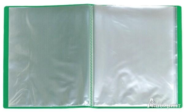 Иллюстрация 1 из 2 для Папка A4 с 40 вкладышами, зеленая (DB40AB-03) | Лабиринт - канцтовы. Источник: Лабиринт