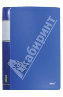 Папка A4 с 60 вкладышами, синяя (DB60AB-04)Папки с прозрачными файлами<br>Папка с прозрачными файлами.<br>Цвет: синий.<br>Корешок с пластиковым карманом.<br>Толщина: 0.75 мм.<br>Количество вкладышей: 60.<br>Формат: А4.<br>