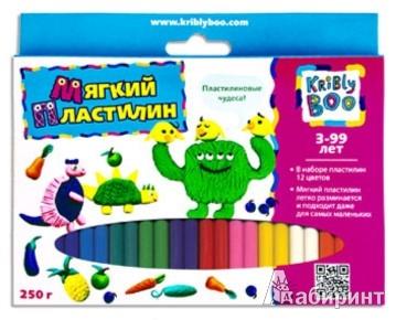 Иллюстрация 1 из 3 для Мягкий пластилин 12 цветов, 250 гр., 24 штуки (46649) | Лабиринт - игрушки. Источник: Лабиринт
