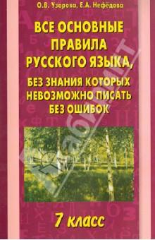 Все основные правила русского языка. 7 класс