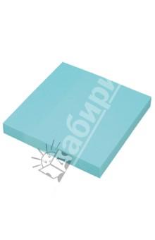 Клейкая бумага для заметок. 76х76 мм. цвет: неоновый голубой (PF-7676N-13) Proff