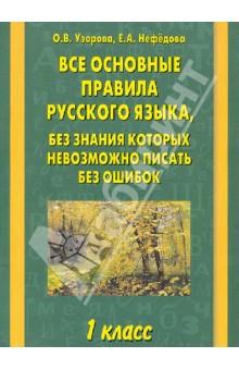 Все основные правила русского языка. 1-й класс