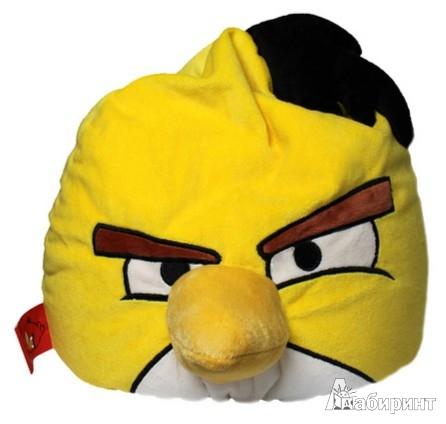 "Иллюстрация 1 из 7 для Angry Birds. Подушка ""Yellow bird"", 30х25 см. (АВУ12) | Лабиринт - игрушки. Источник: Лабиринт"