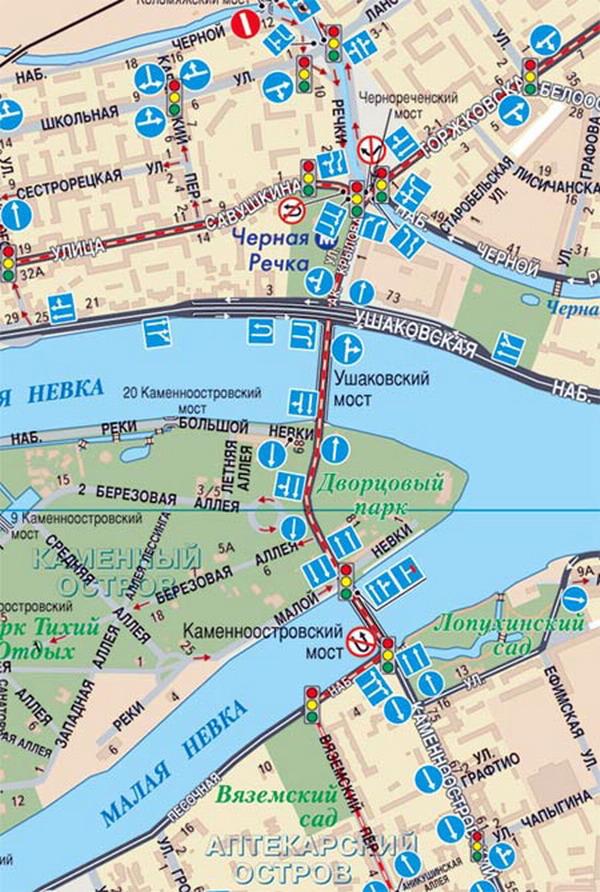 карта санкт петербурга с