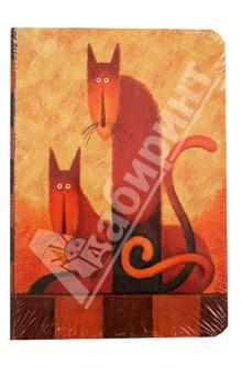 Бизнес-блокнот Cats, Modo Arte А5- (6097)Блокноты (нестандартный формат)<br>Бизнес-блокнот Modo Arte.<br>Бумага: плотный офсет.<br>Переплет: 7Б.<br>Выборочная лакировка, ляссе.<br>Произведено в Китае.<br>