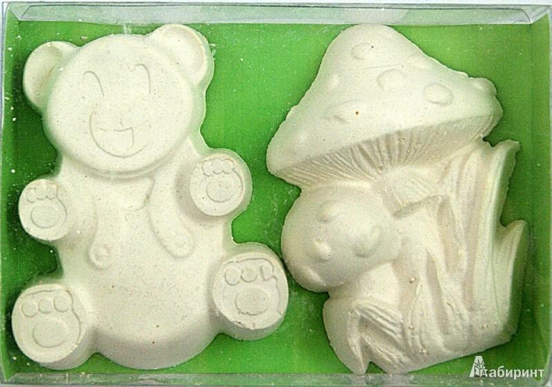 """Иллюстрация 1 из 3 для Фигурки для раскрашивания из гипса """"Мишка и грибок"""" (899086)   Лабиринт - игрушки. Источник: Лабиринт"""