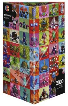 Puzzle, 2000 элементов Роботы, Stonson (29576)Пазлы (2000 элементов и более)<br>Пазл-мозаика + постер. <br>Состоит из 2000 элементов.<br>Размер картинки: 69х97 см<br>Правила игры: вскрыть упаковку и собрать игру по картинке.<br>Не давать детям до 3-х лет из-за наличия мелких деталей.<br>К пазлу прилагается постер.<br>Упаковка: картонная коробка.<br>Сделано в Германии.<br>
