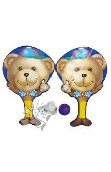 """Набор из двух ракеток, мяча и волана """"Мишка"""" (33625)"""