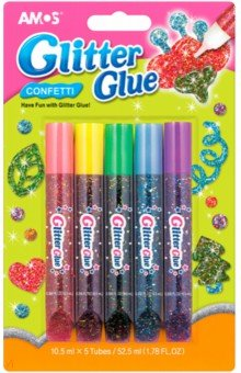 Оформительский клей Конфетти. 5 цветов (20630)Декоративные маркеры, мелки<br>Оформительский клей<br>Вдохновляет на шедевры! <br>В наборе 5 цветов: <br>- красный<br>- желтый<br>-зеленый<br>- голубой<br>- фиолетовый<br>Объем тюбика одного цвета: 10,5 мл<br>Для детей старше 3-х лет<br>Сделано в Корее<br>