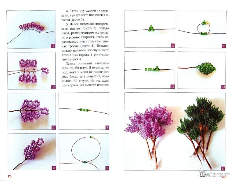 Красивые цветы из бисера схемы и для начинающих