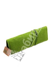Пенал на завязке. Зеленый (070047)Пеналы-косметички<br>Пенал на завязке <br>Размер: 220х70 мм<br>Материал: искусственный войлок<br>Цвет: зеленый<br>Сделано в Китае<br>
